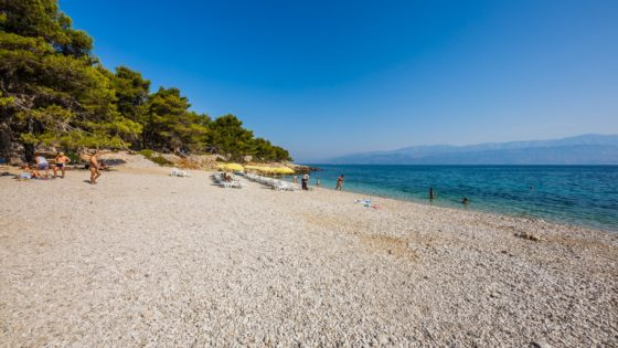 Most beautiful beach on island of Brač
