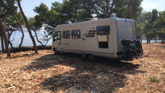 Camping stellplatze direkt am meer