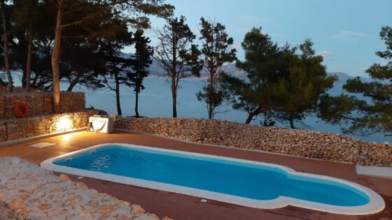 campsite with pool